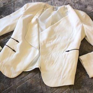 Halogen White Blazer Size Large